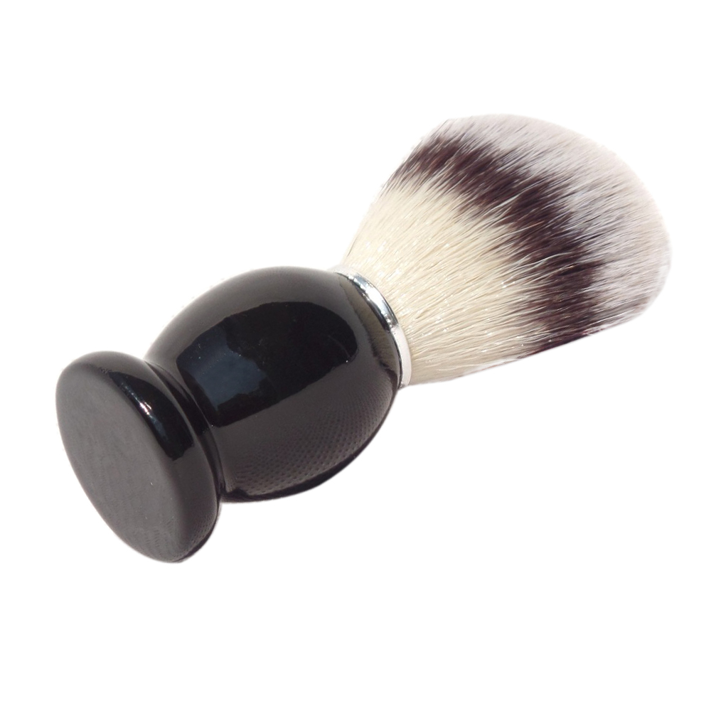 Rasierpinsel Barber Bart Pflege-Werkzeug mit schwarzem Holzgriff Kunsthaar