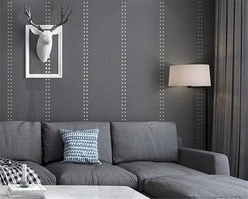 Beibehang Living room wall soft rivet wallpaper Nordic plain non-woven deerskin sofa TV background home decoration 3d wallpaper