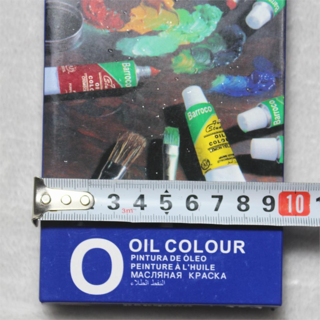 2 Brush And 1 Palette For Free! Oil Paints 12 Colors