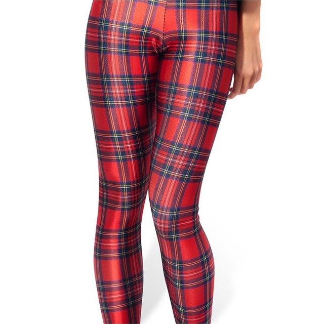 fc18d8c5427dc 2016 New Red Plaid Women Legging Womens Leggings Jeggings Sexy Legging  Pants Printed Leggings DDK030205