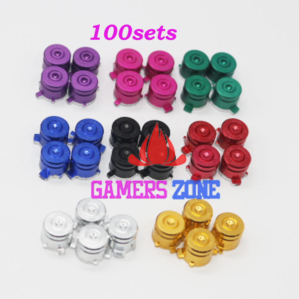 DHL 100sets 400pcs Aluminum Bullet Buttons Keys Set for Sony PS3 PS4 Game Controller