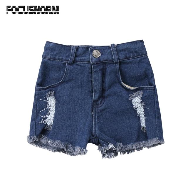 a562f2ef1 Summer Newborn Kids Baby Boys Girls Hole Jeans Shorts Pants Clothes Hot  Pants Fashion Denim Short Pants 0-5Y