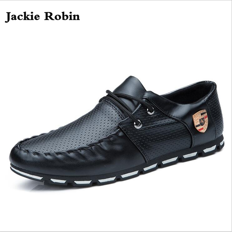 2018 New Brand Fashion Summer Soft Moccasins High Quality Men Loafers Shoes Men Flats Gommino Lace-Up Driving Shoes