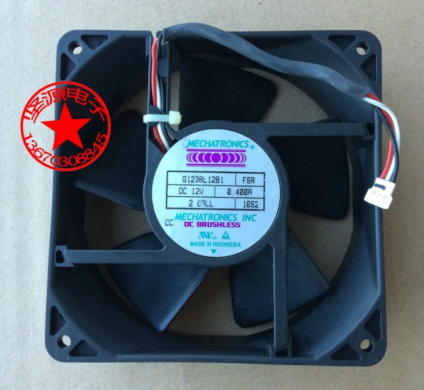 Original MECHATRONICS G1238L12B1 12038 12V 0.400A three-wire fan 120x120x38mm delta 12038 12v cooling fan afb1212ehe afb1212he afb1212hhe afb1212le afb1212she afb1212vhe afb1212me