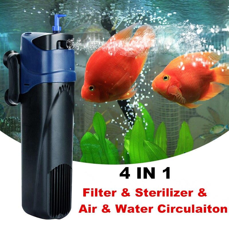 5 8w 4 In 1 Aquarium Uv Sterilizer Filter Pump Fish Tank