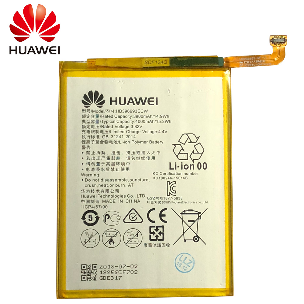 Hua Wei HB396693ECW Original Replacement Phone Battery For Huawei Mate 8 NXT AL10 NXT TL00 NXT CL00 NXT DL00 3900mAh Tools in Mobile Phone Batteries from Cellphones Telecommunications