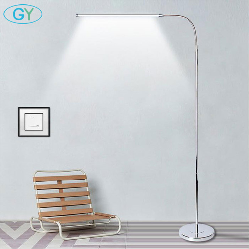 Modern 9W 12W 15W LED Floor Lamp remote dimmable stand Lights living room piano reading standing