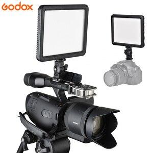 Image 2 - Godox ultra fino ledp120c 3300k ~ 5600k brilho ajustável estúdio de vídeo lâmpada luz contínua para câmera dv filmadora + bateria