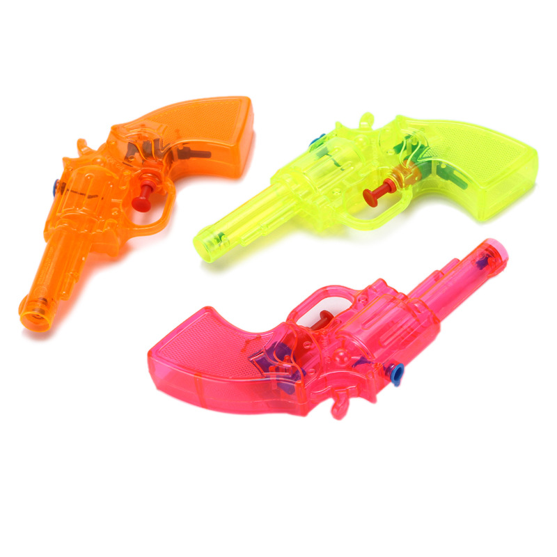 SLPF Summer Hot Toys Color Plastic Transparent Small Water Gun Children Beach Kids Baby Play Water Parenting Game Toy Gift G15