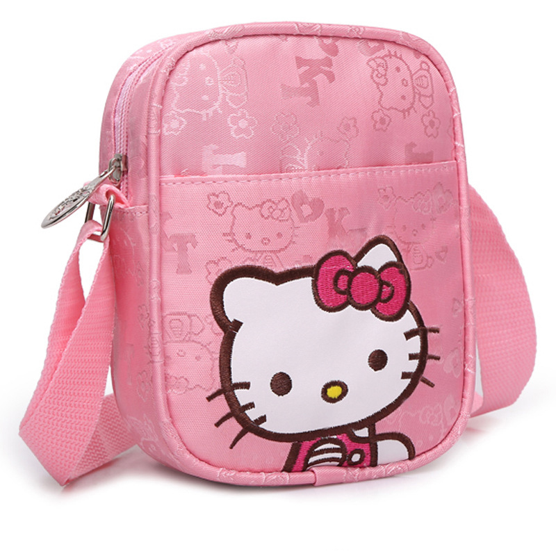 Hello Kitty Casual Shoulder Bag Girl Fashion Waterproof Kids Bags Flaps Coins bag eye shadow
