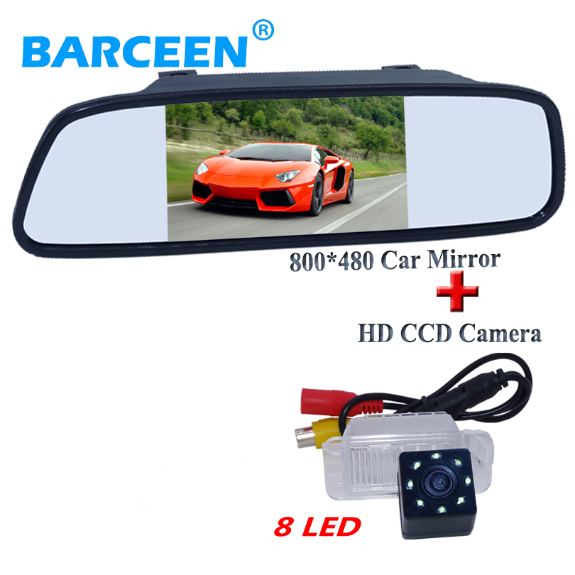 Apply for Ford MONDEO Fiesta 8 led car reversing camera glass lens material +5 car rear mirror for Ford MONDEO Fiesta