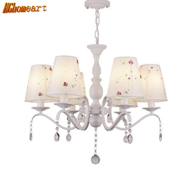 HGHomeart E14 Lampadari Di Moda Caldo Della Ragazza Della Principessa Camera  Da Letto Soggiorno Lampadario Di