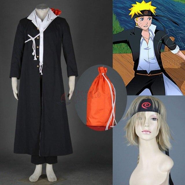 Athemis 2015 Hot Uzumaki Naruto Cosplay Costumes Cool Black Coat