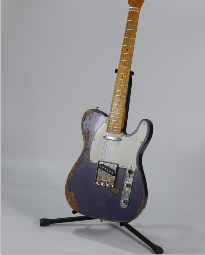 Custom shop. TELE 6 Strings Acero fingerboard rosso Chitarra Elettrica, telecaster gitaar reliquie da mani guitarra. real foto