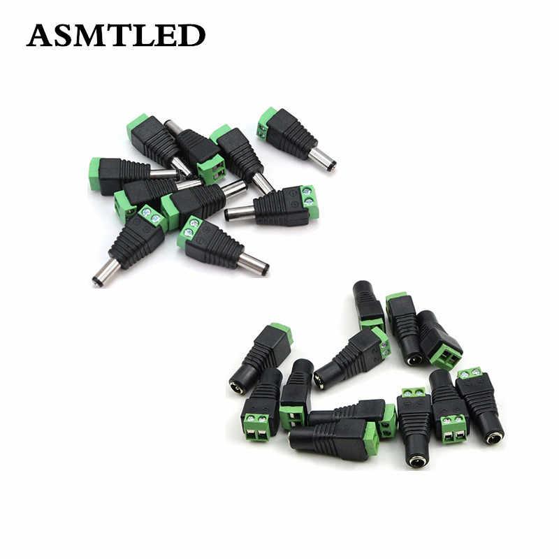 1 sztuk 10 sztuk 100 sztuk AC mężczyzna złącze żeńskie DC zasilacz wtyczka złącze LED złącze dla jednego kolorowy pasek LED kamery monitoringu