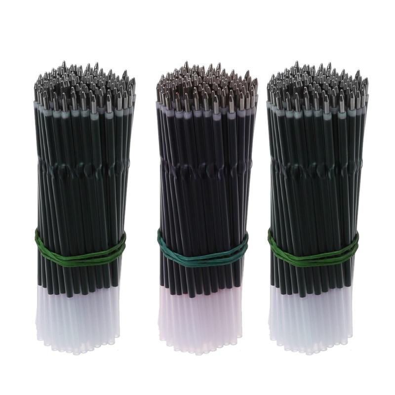100Pcs 0.7mm Ballpoint Pen Refill Black Blue Red Pen Refill Stationery School Office Supply недорого