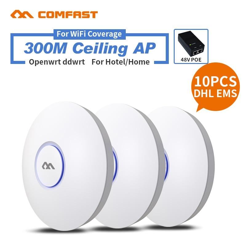 10 stück DHL COMFAST 300 Mt QCA9531 Chipset High speed Professionelle business Wireless Decke AP Für Wifi-abdeckung CF-E320V2