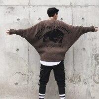 Bat Sleeve Loose Sweater for Men Fashion Casual Pullovers Sweater Male Women Knitwear Overcoat