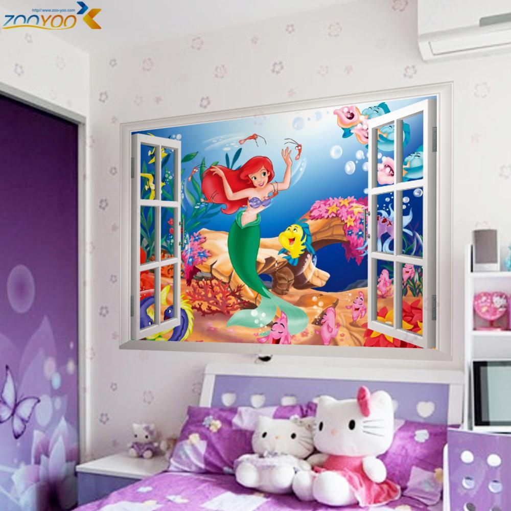online get cheap mermaid wall decals aliexpress com alibaba group