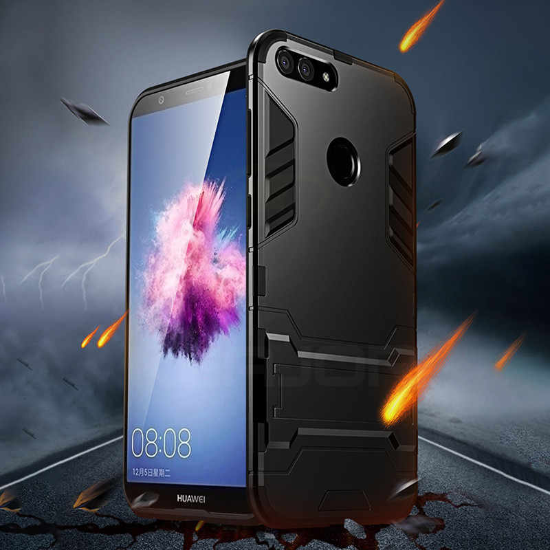 case For Huawei P Smart Case Shockproof TPU+PC Hard Plastic with Stand Dual Hybrid Back Cover For Huawei P Smart 2018 Cover