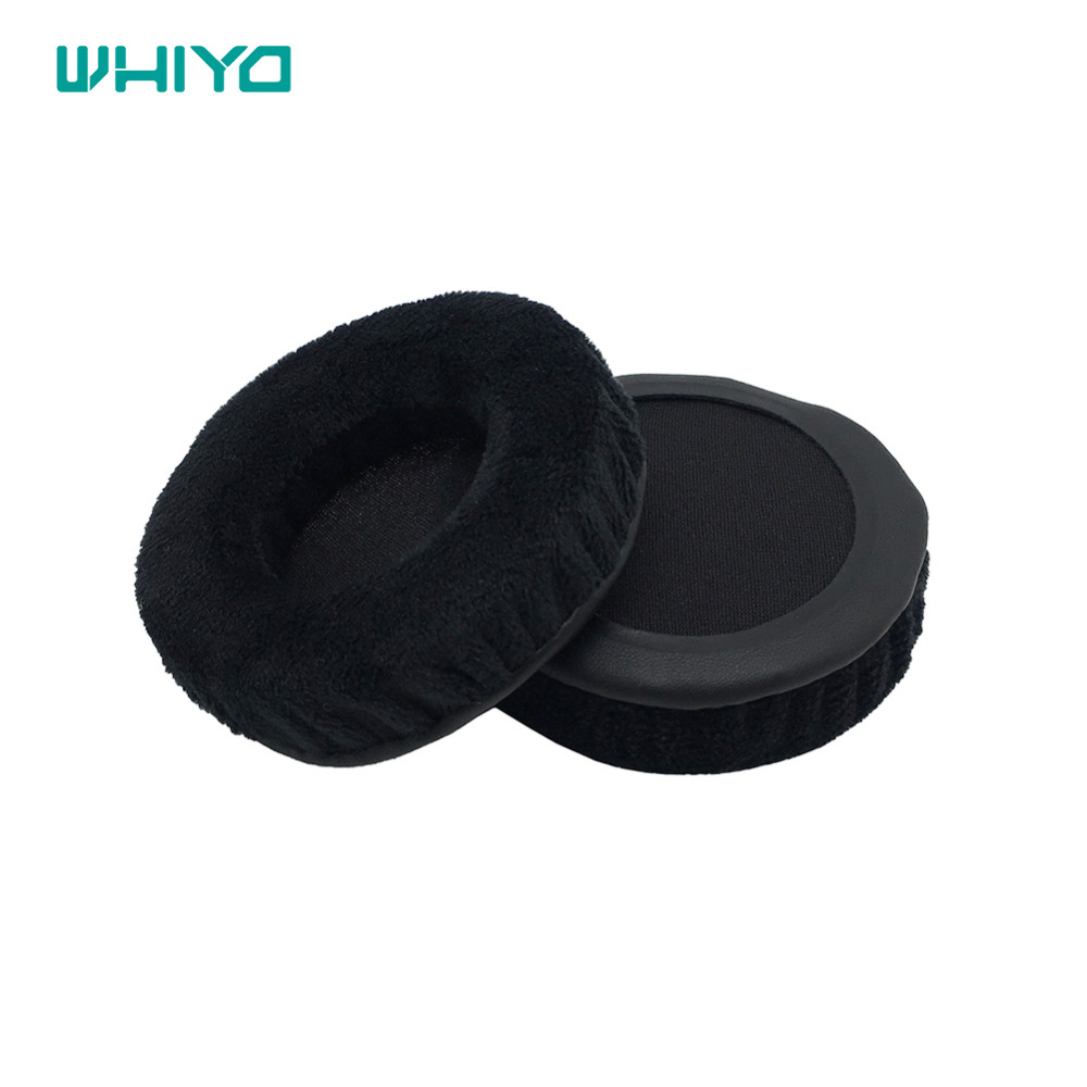 Whiyo Velvet leather Replacement Ear Pads Pillow <font><b>Earpads</b></font> for 70mm <font><b>75mm</b></font> 80mm 85m 90mm 95mm 100mm 105mm 110mm Headset image