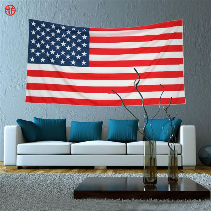 American Flag Wall Hanging aliexpress : buy home decor american flag tapestry red usa