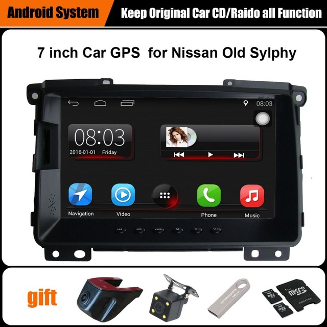 7 inch Capacitance Touch Screen Car Media Player for Nissan Sylphy (2009 Befor) GPS Navigation Bluetooth Video player WiFi