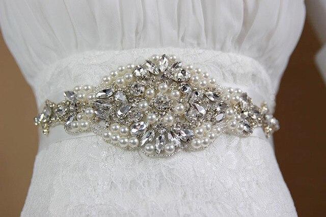 2017 New Fashion Luxury Wedding Belts Beaded Pearls Bridal Sash Handmade Crystal Bridal Sashes For Bridal XW45