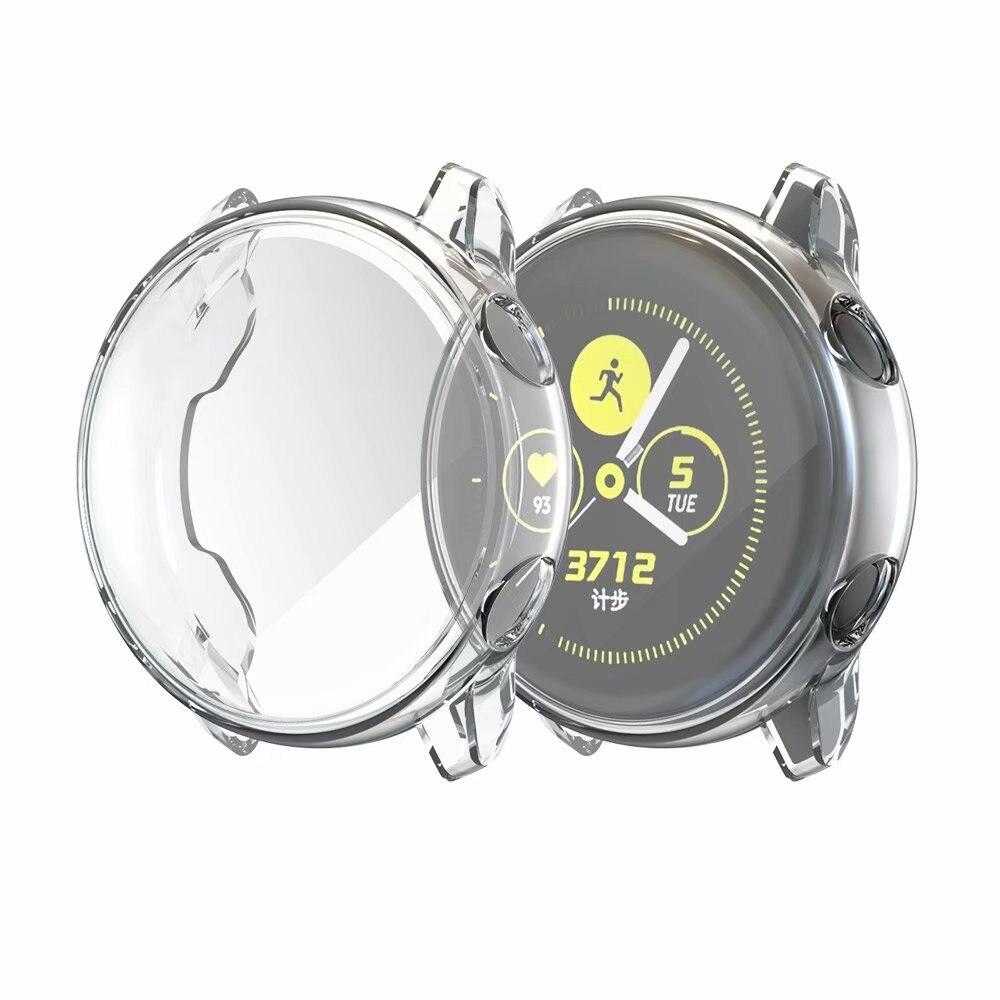 Ультратонкий Мягкий чехол для samsung Galaxy Watch Active, прозрачный защитный чехол из ТПУ для Galaxy Active, 40 мм, полностью силиконовый чехол - Цвет: Transparent