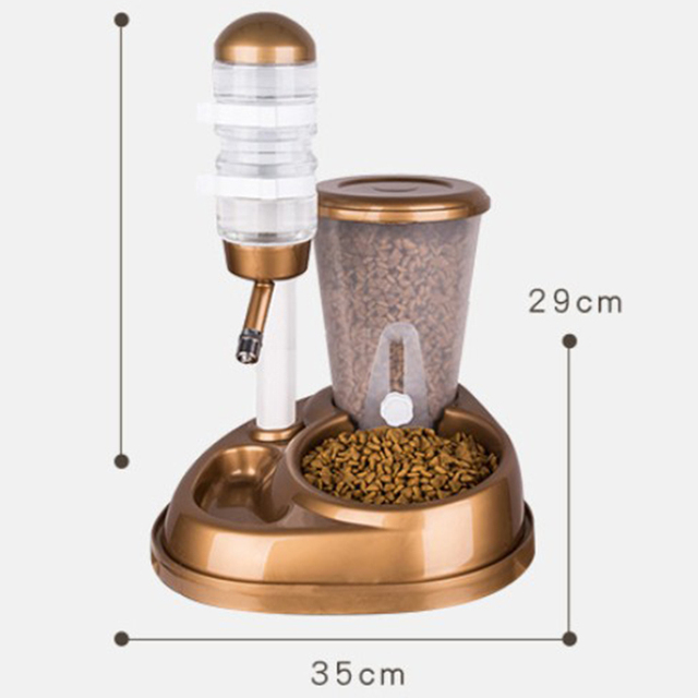 Dual Automatic Pet Feeder with Water Fountain & Large Food Dispenser   2