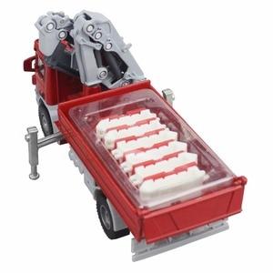 Image 5 - KDW alliage moulé sous pression grue camion modèle 1:50 télescopique grue vidage Support jambe grue jouet véhicule modèle enfants Collection enfants voiture