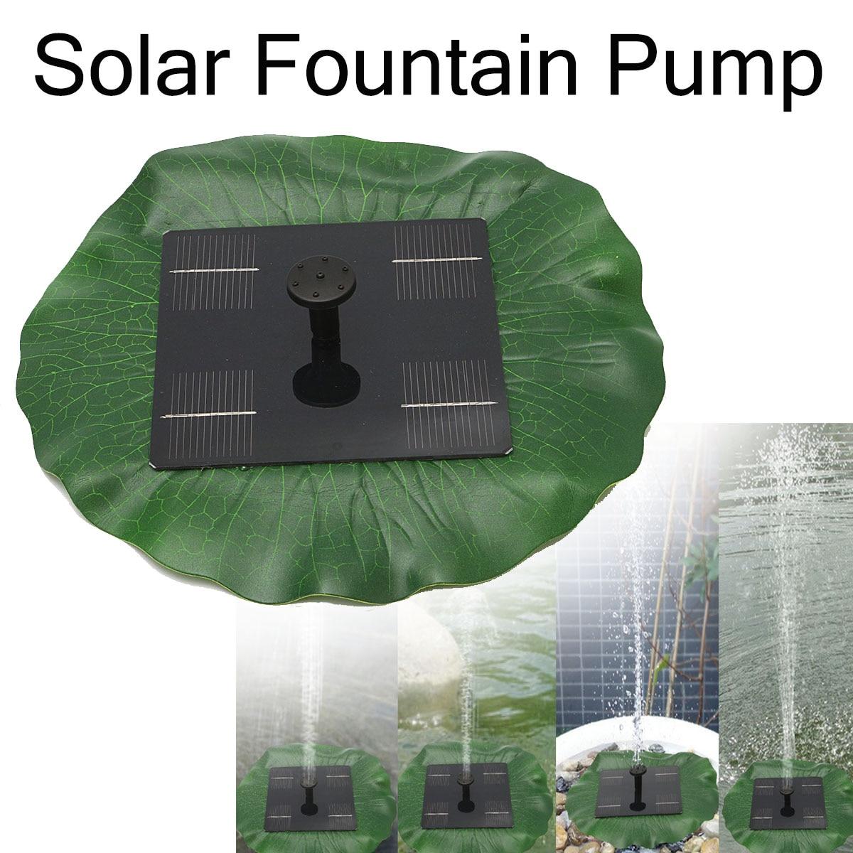 8V 1.6W 180L/h Floating Solar Power Fountain Panel Kit Garden Water Pump for Birdbath Pool Watering Wide Irrigation Pumps цены онлайн