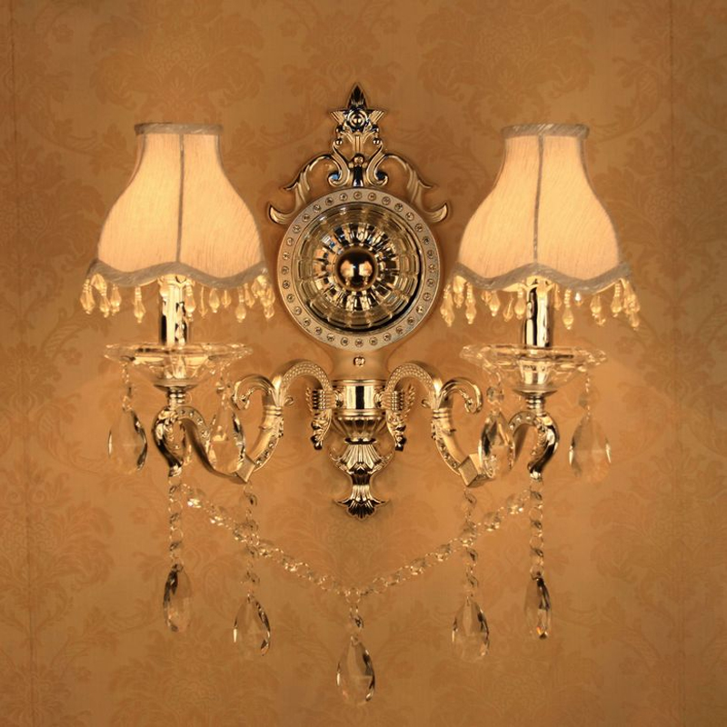 silver Luxury Wall Sconce Lighting European-style wall lights mirror front lamp bedside lamp crystal lamp Wall lamp bedroom modern lamp trophy wall lamp wall lamp bed lighting bedside wall lamp