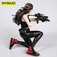 2 Models 1/6 Scale TYM033 Women Sexy Popular Leather pants Female Fashion Tights Clothes For12'Full Set Action Figure Dolls Toys