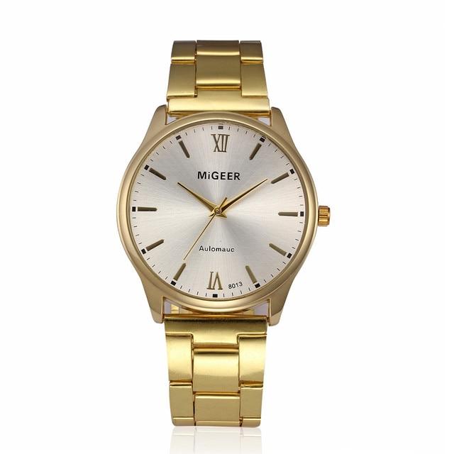 Fashion Man Crystal Stainless Steel Analog Quartz Wrist Watch Mens Watches Top B