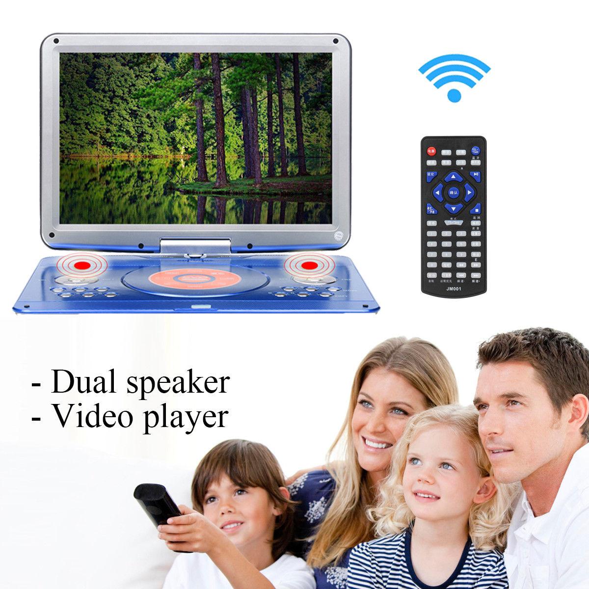14 Детский плеер TFT ТВ DVD плеер ЖК дисплей USB SD карты компакт диск FM радио дистанционное управление