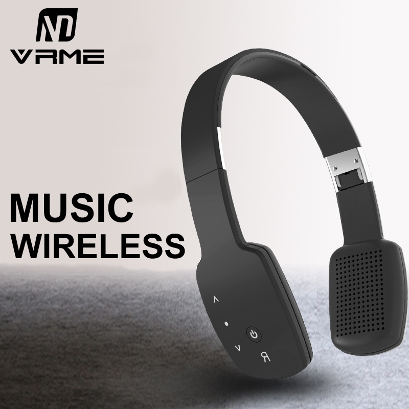 Wireless Bluetooth Headphone Foldable HIFI Headphones Stereo Earphone Bass Noise Cancelling Headset With Microphone For iPhone 7 wireless bluetooth headset mini business headphones noise cancelling earphone hands free with microphone for iphone 7 6s samsung