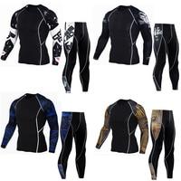 Rashguard Mma Long Sleeve Crossfit T Shirt Fitness Compression Shirt Thermal Underwear For Men MMA Clothing