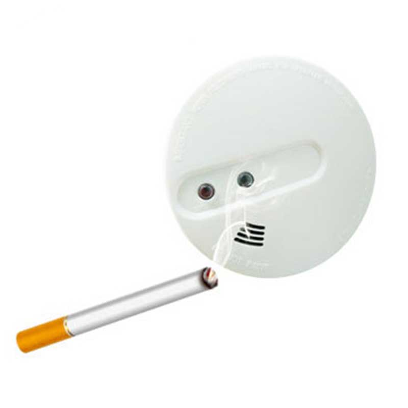 Wireless Chamber Battery Operated Combination Smoke And Heat Detector Motion Sensor For Smart Security Alarm System With Mute