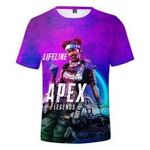 Venta caliente 3d Apex leyendas verano camiseta Cool moda nuevo estilo Hip Hop de patrón de dibujos animados de manga corta streetwear camiseta