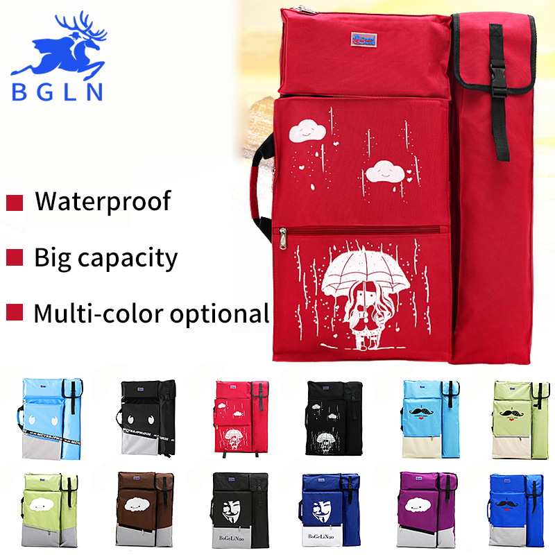 Bgln 4k Red Black Dark Blue Sky Blue Portable Painting Board Bag Carry Case Drawing Waterproof