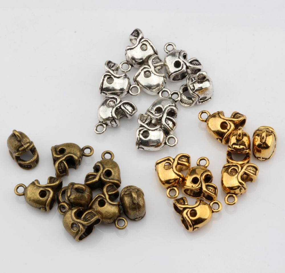 Hot ! 12pcs Antique Silver / Antique bronze / Antique gold 3D Small Football Helmet Charms pendants DIY Jewelry 13 x11mm nm306