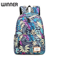 Fashion Leaves Pattern Printing Backpacks For Teenage Girls Casual Women Shoulder School Bag Travel Bags