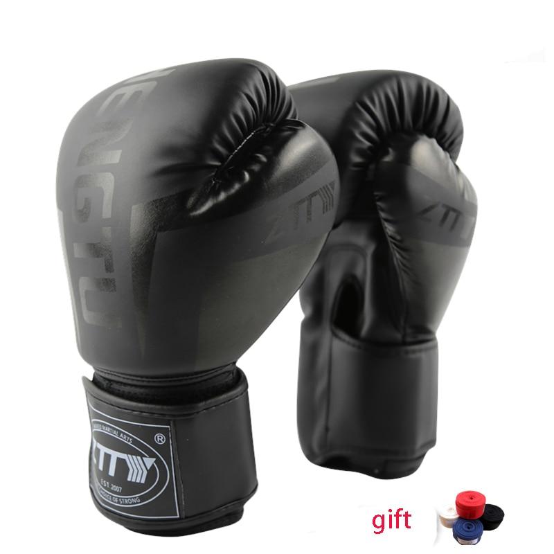 Boxing Gloves Muay Thai Training Maya Hide Leather Sparring Punching Bag Mitts kickboxing Fighting house of steel padded leather mitts черные перчатки для подвешивания