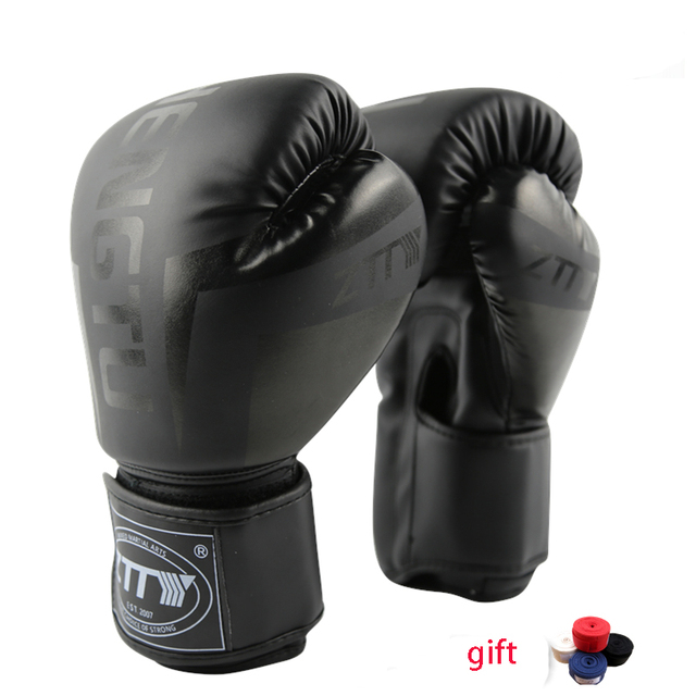 Boxing Gloves Muay Thai Training Maya Hide Leather Sparring Punching Bag Mitts Kickboxing Fighting