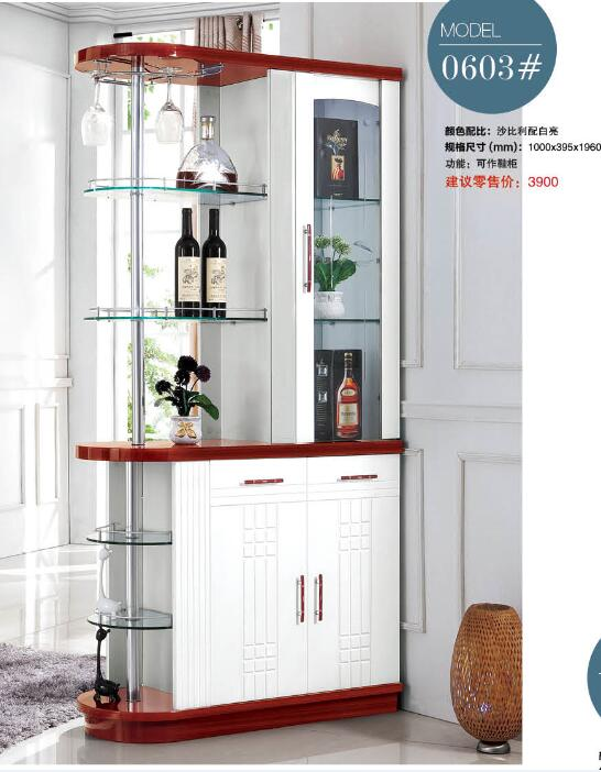 0603# Living room furniture wine cabinet display showcase Wine cooler living room cover cabinet Between Cabinet Office