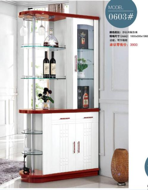 0603# Living Room Furniture Wine Cabinet Display Showcase Wine Cooler  Living Room Cover Cabinet Between
