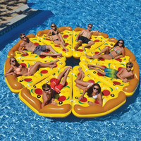 180*150cm Pizza Inflatable mattress Environmentally PVC Outdoor Water Toy Water spray cushion Lawn, Swimming Pool, Beach Cushion