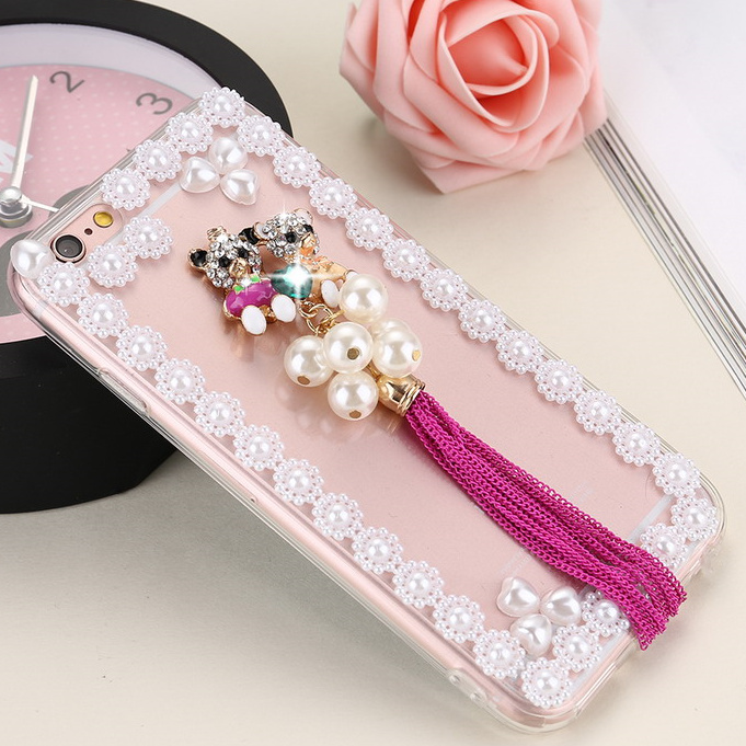New 3D Bling Sparkle Crystal Diamond Case Cover For iphone 6 6s Case For iphone 6 plus 6splus Pink</fo