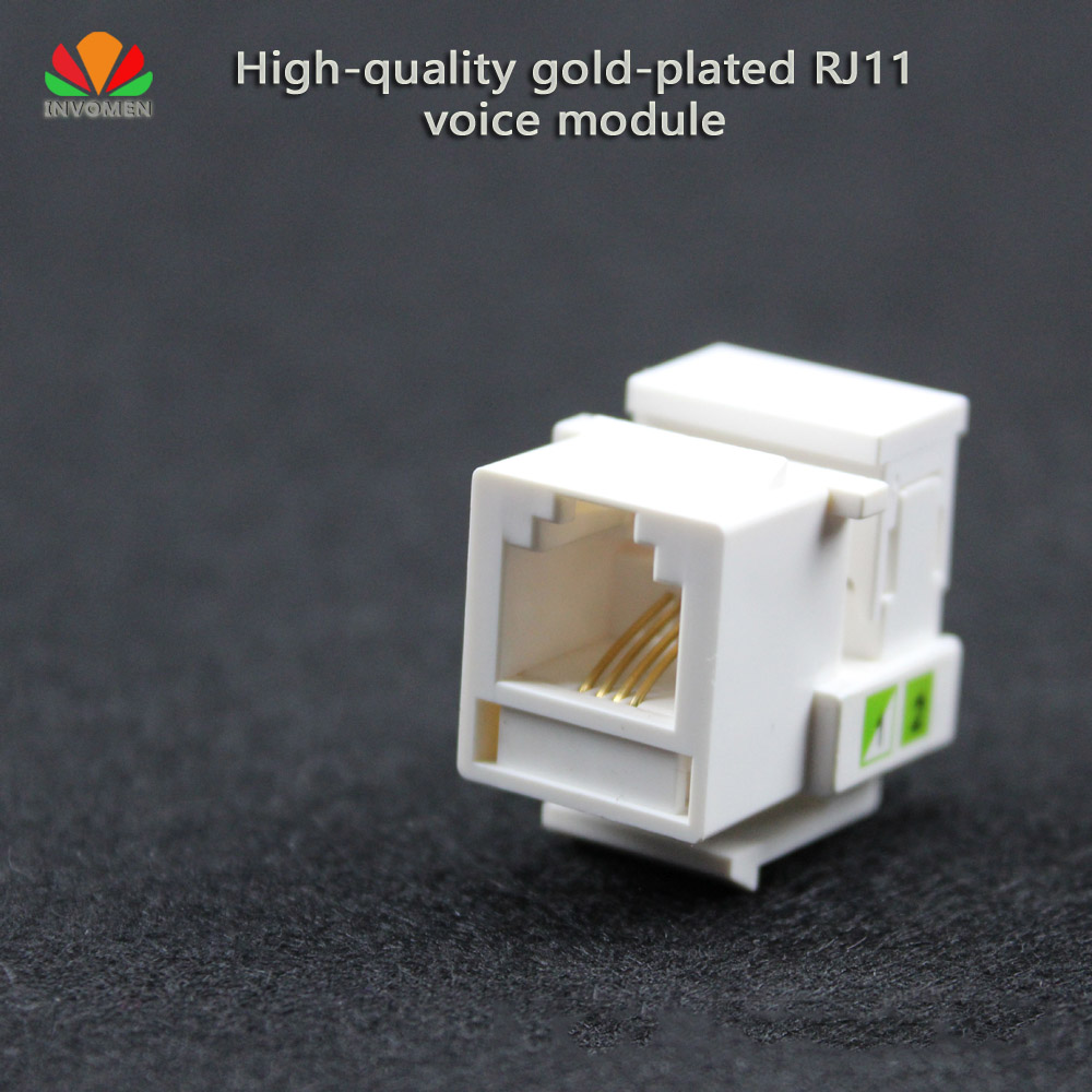 Купить 5Pcs/lot Hq Tool-Free Telephone Module Rj11 Cat3 Voice Module Gold-Plated With Dust Cover Cable Adapter Keystone Jack